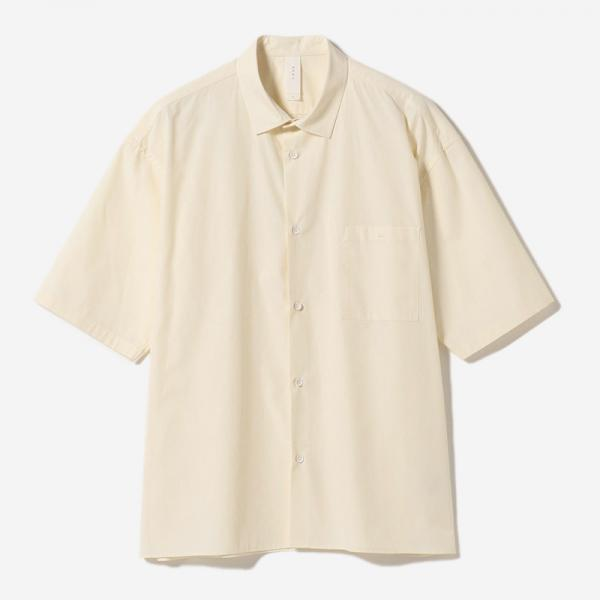 MINIMAL SHORT SLEEVE SHIRT ECRU/mens
