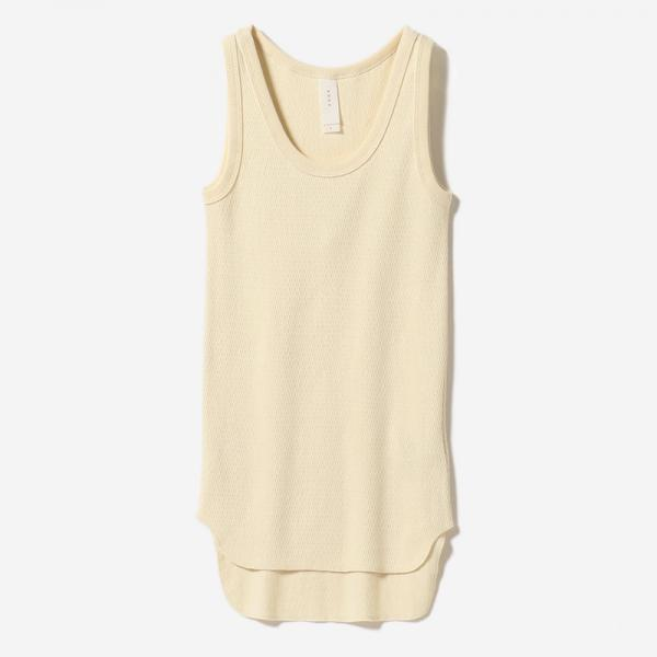 ORGANIC COTTON TANK ECRU/womens