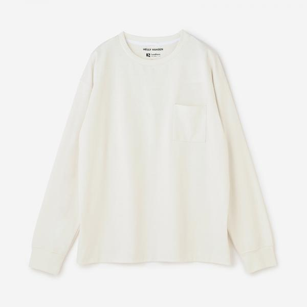 LandNorm LONG SLEEVE TEE スモークホワイト